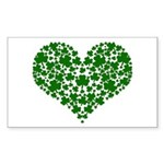 Shamrock Heart Sticker (Rectangle)