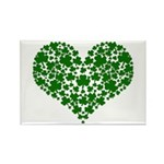 Shamrock Heart Rectangle Magnet