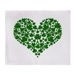 Shamrock Heart Throw Blanket