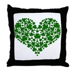 Shamrock Heart Throw Pillow
