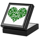 Shamrock Heart Keepsake Box