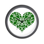 Shamrock Heart Wall Clock