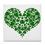 Shamrock Heart Tile Coaster