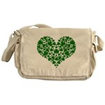 Shamrock Heart Messenger Bag