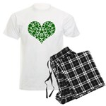 Shamrock Heart Men's Light Pajamas