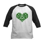 Shamrock Heart Kids Baseball Jersey