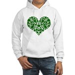 Shamrock Heart Hooded Sweatshirt