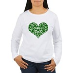 Shamrock Heart Women's Long Sleeve T-Shirt