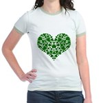 Shamrock Heart Jr. Ringer T-Shirt