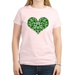 Shamrock Heart Women's Light T-Shirt