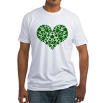 Shamrock Heart Fitted T-Shirt