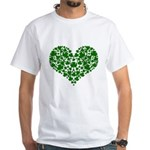 Shamrock Heart White T-Shirt