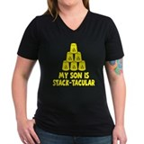 Stack-tacular Women's Black V-Neck