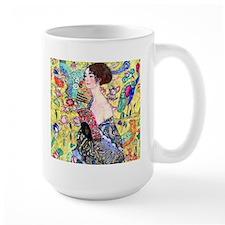 Klimt - Lady w/Fan Ceramic Mugs