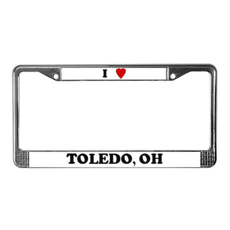 I Love Toledo License Plate Frame
