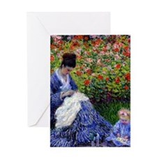 Monet - Camille & Child Greeting Card