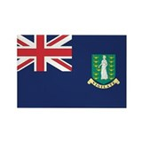 British Virgin Islands Rectangle Magnet