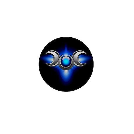 Blue Pagan Triple Goddess Mini Button (100 pack)