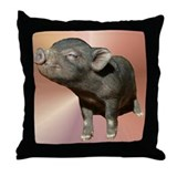 &quot;Pot Belly Pig #1&quot; Throw Pillow