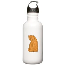 Red Persian Cat Water Bottle