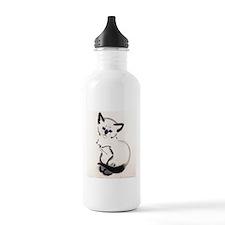 Siamese Cat Art Water Bottle