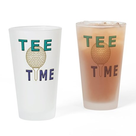 Sports novelty golf graphic Drinking Glass