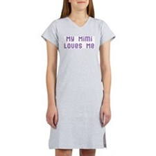 My Mimi Loves Me! (Pink/Blue Women's Nightshirt