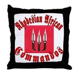 Rhodesia Commandos Throw Pillow