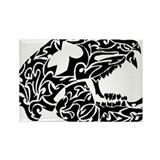 Bear Skull Tribal Tattoo Rectangle Magnet
