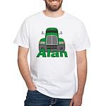 Trucker Alan White T-Shirt
