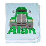 Trucker Alan baby blanket