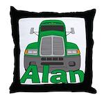 Trucker Alan Throw Pillow