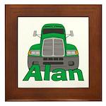 Trucker Alan Framed Tile