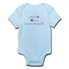 Peace, Love and Obama Infant Bodysuit
