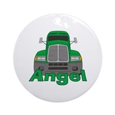 Trucker Angel Ornament (Round)