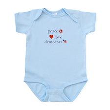 Peace, Love and Democrat Infant Bodysuit