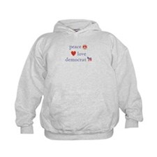 Peace, Love and Democrat Hoodie