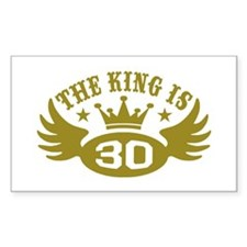The King is 30 Decal