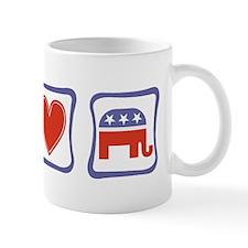 Peace, Love and Republican Mug