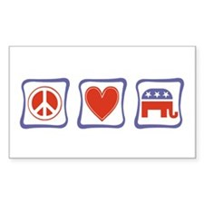 Peace, Love and Republican Decal