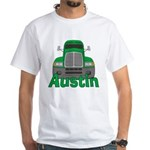 Trucker Austin White T-Shirt