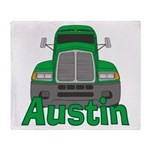 Trucker Austin Throw Blanket