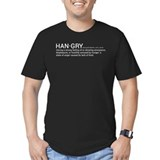 Men's Fitted Hangry T-Shirt (dark)