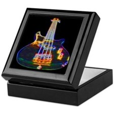 Electric Bass Guitar Keepsake Box