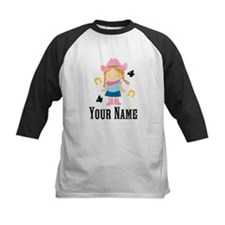 Personalized 4th Birthday Cowgirl Tee