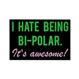 """I hate being bi-polar. It's awesome!"" M"