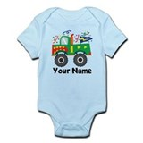 Personalized 1st Birthday Monster Truck Infant Bod
