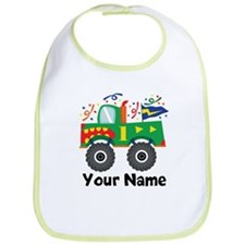 Personalized 1st Birthday Monster Truck Bib