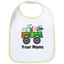 Personalized 2nd Birthday Monster Truck Bib