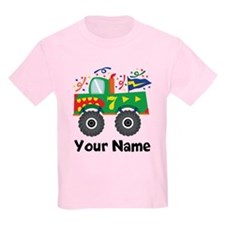 Personalized 7th Birthday Monster Truck T-Shirt